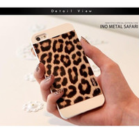 For Apple iPhone Plastic  Wholesale - - Motomo Hard Case Back Cover For iPhone 5 5S Leopard Tiger Zebra Print Design for iphone 4 4S 4G