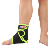 Wholesale SX663 G Sports Basketball Elastic Silicone Ankle Foot Brace Support Wrap Green Black