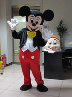 Wholesale adult size Mickey mouse and Minnie mascot costume party costume shipping to worldwide Mickey and Minnie mascot evening gowns