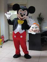 taille adulte Mickey Mouse et Minnie costume de mascotte expédition costume de fête à travers le monde Mickey et Minnie robes mascotte du soir