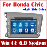 """2 DIN Special In-Dash DVD Player 8 Inch 8"""" 2-Din Car DVD Player for Honda Civic Left Side Drive 2012 2013 with GPS Navigation Radio Bluetooth USB AUX MP3 Audio Stereo"""
