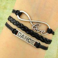 Charm Bracelets ballet gifts - Dance bracelet infinity love bracelet Ballet Dancer bracelet Ballerina Bracelet Ballet charm bracelet Bridesmaid gift Graduation gift