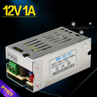 Wholesale 12V1A Switching Power Supply Adapters for Security CCTV Camera or LED Light Strips