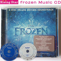 Wholesale 2014 new frozen CD FROZEN DELUXE CONTENT SOUNDTRACK the most classical music disk Frozen OST in English elsa cosplay