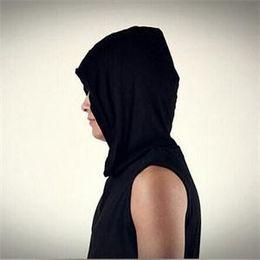 2014 New Fashion Korean Style Slim Men Hoodies Summer Casual Sleeveless soft Hoodie For Men Men Clothing