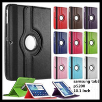 10.1 tablet case - For Samsung Galaxy Tab inch P5200 Tablet PU Leather Case Cover Rotating Protective smart cover