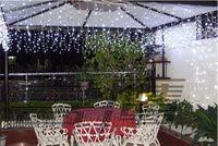 Wholesale Instock warm white LED Curtain Lights String m m led shop Backdrop Christmas Party Wedding Holiday Decoration Xmas Fairy Lights L114