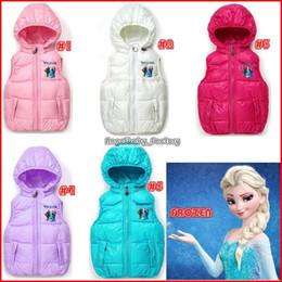 Wholesale Fall Sleeveless Jacket Frozen Children Tank Tops Horse Vest With Hood Girl Clothes Winder Coat Girls Girls Korean Children Clothing DHL