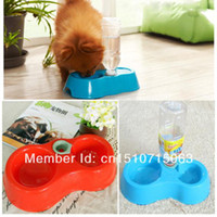 Feeding & Watering Supplies Dogs Y940 Free Shipping(Track NO) Automatic Puppy Water Dispenser Food Dish Bowl Feeder for Dog Cat Pet BTxYJ