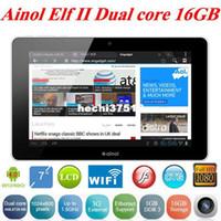 Wholesale Gift Ainol NOVO Elf II GB GB Android AML8726 M6 Dual core1 GHz WiFi External G Ethernet inch tablet White Black