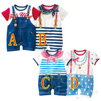 Unisex Summer Character Wholesale 2013 summer new children's clothing climbing clothes leotard Romper Navy Stripe Bib necklace baby girls and boys
