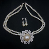 Wholesale High Quality Hot Selling Austrian Crystal Silver Plated Valentine s Gifts Fashion Pearl Jewelry Sets set