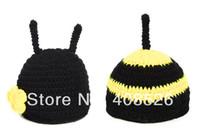 Unisex Summer Crochet Hats Baby Costume Photo Photography Prop handmade Knit Cap Crochet Beanie Baby Animal Hat Sets 18008