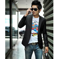 Wholesale S XXL Fashion Silm Fit Stylish Mens V Neck One Button Blazer Suit business Coat Jacket