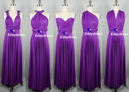 Wholesale DIY Convertible Neckline Dresses Bridesmaid convenient Elegant floor length Flowing Chiffon Bridesmaid Dresses