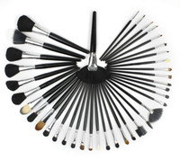 Goat Hair high quality cosmetics makeup - Beautiful Professional Pro Black Luxurious High Quality Makeup Brush Set Cosmetic Goat Hair Brushes Kit With Bag