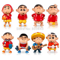 Wholesale PVC Cartoon Anime Crayon Shin chan Action Figure Kids Educational Toy Gift Collection Boutique Keychain