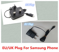 Wholesale High Quality V8 Micro USB Travel Wall Adapter V Charger UK EU Plug Wall Charger For Samsung with logo by DHL