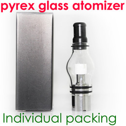 Wholesale Glass globe atomizer pyrex glass tank Wax dry herb vaporizer pen vapor cigarettes electronic cigarette glass atomizer glassomizer for ego