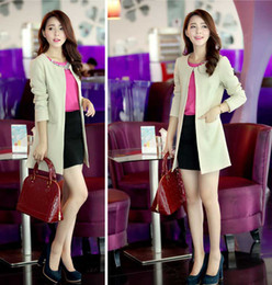 Wholesale 2014 New Europe Women Fashion Suits Various Color Mid Length Sleeve Slim Outwear Small suits Zipper S0469