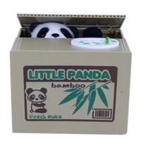 money box - Lovely Stealing Coins Panda Cent Penny Buck Saving Money Box Pot Case Piggy Bank