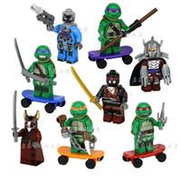 teenage fashion - 10sets TMNT toys Mirage Teenage Mutant Ninja Turtles building blocks bricks toys action fashion figure for children gifts set