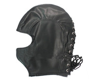 Masks adult mask - Visible Female PU Sex Head Hood Mask BDSM Bondage Sex Games Slave Trainer Gear Adult Pleasure Sex Toys Products HM1012