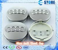 Wholesale DHL High Quality mm Wheel Hub Caps Cap Car Wheel Badge Emblem for Audi A1 A3 A4 A6 A8 Q1 Q3 Q5 Q7 J