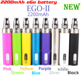 eGo II 2200mAh KGO ONE WEEK 2200 mah huge capacity battery electronic cigarette CE4 mt3 protank aerotank mega Nautilus mods ego atomizers