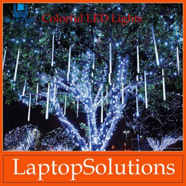 50cm 30leds led light strip meteor shower rain tube snowfall led strip light white outdoor decoration