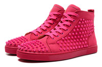 Cheap Lace-Up men red bottom sneakers Best Unisex Spring and Fall women red bottom sneakers