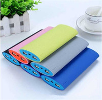 Power Bank Universal OEM Free shipping 20000 mAh High Capacity Portable Rechargeable 2 USB Power Bank External Battery Charger Backup power for Mobile phone
