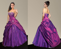 Wholesale Purple Ball Gown Quince Dress Allure Quinceanera Dress Purple Ball Gown Quince Dress