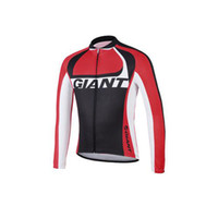 Wholesale 2014 Giant Cycling Jerseys Red Long Sleeves Mountain Bike Shirts High Quality Cheap Fast Color Fashion Cycling Jerseys Wear