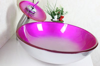 Wholesale Victory bathroom basin glass sink wash basin vessel sink wash sink bathroom cabinet sink N