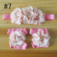 Headbands other Floral Wholesale New Euro Style Baby Infant Hair Accessories Fashion Flower Pattern Girls Hair Band For Kids Free Shipping HA40827-38