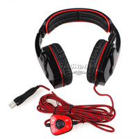 Wholesale Original HD PRO SA Gaming Headset Surround SADES Headband Gaming Stereo Cobra Design For PC USB Port zl259