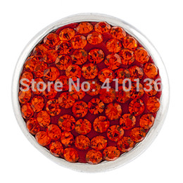 Wholesale NSB1215 Hot Sale Snap Jewelry Button For Bracelet Necklace DIY Jewelry Full Crystal Alloy Snaps Bright Colors