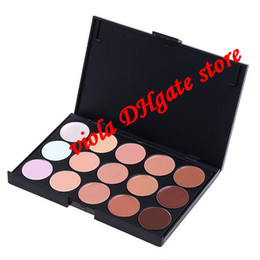 Wholesale 15 Color Neutral Party Makeup Eyeshadow Camouflage Facial Concealer Palette Eye Shadow Professional high quality Free Ship DHL