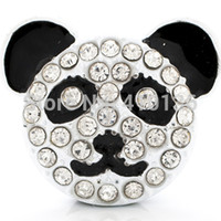 Quilt Accessories Fashion Beads NSB1265 Hot Sale Snap Jewelry Button For Bracelet Necklace 2014 Fashion DIY Jewelry Panda Chunky Snaps