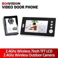Wireless audio intercom systems - 2 GHz Inch Wireless Video Door Phone Audio Visual Intercom Monitor with CMOS Camera door monitoring system