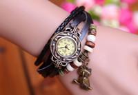 Wholesale Fashion Vintage Retro Quartz Wrap Synthetic Owl Leather Bracelet Wristwatches Women s Wrist Watch Colors Christmas Gifts Free DHL