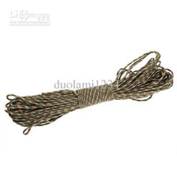 Wholesale Versatile M Nylon Braided Cord Military Survival Parachute Rope for Outdoor Activities Camouflage free shiping