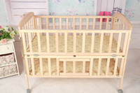 Wholesale Manufacturers wood crib newborn baby playpen children s beds cradle bed with quality assurance