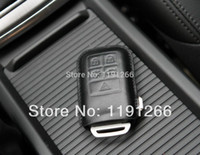Wholesale Top Quality Black Brown Red Genuine Leather Key Case Bag KeyChain For VOLVO Keyless Go v40 v60 s60 xc60