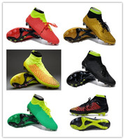 Wholesale 6colors Brand Ankle Net Football Shoes Soccer Boots Brand Magista Obra FG ACC Athletic Boot TPU Cleats Red Sport Shoe Man New Arrivals