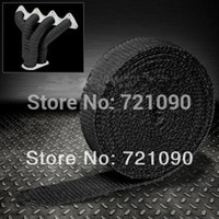 Wholesale black fiberglass automobile motorcycle exhaust wrap thermal heat wrap in width M length