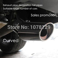 Yes Exhaust System - 304 Stainless Steel Exhaust Muffler Tip Exhaust Pipe End Pipe Car Tail Muffler Last exhaust system