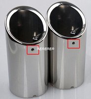 Wholesale Chrome Rear Exhaust Muffler Tip Pipe Cover Ends For VW Golf Mk7 VII