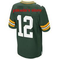 Wholesale #12 Aaron Rodgers Green Elite Jersey 2014 Hot Sale...